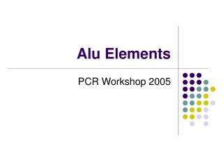 Alu Elements