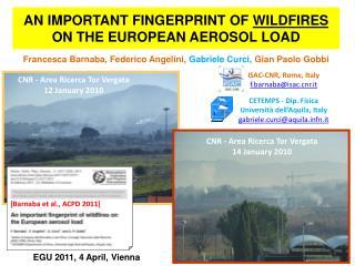 An important fingerprint of  wildfires  on the European aerosol load