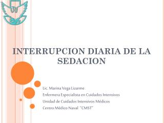 INTERRUPCION DIARIA DE LA SEDACION