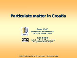 Particulate matter in Croatia