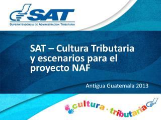 SAT – Cultura Tributaria y escenarios para el proyecto NAF