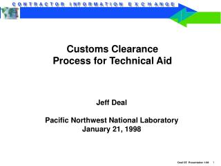 Customs Clearance Process for Technical Aid
