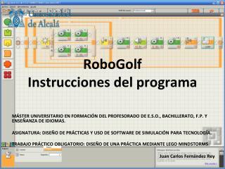 RoboGolf Instrucciones del programa