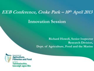 EEB Conference,  Croke  Park – 10 th  April 2013 Innovation Session
