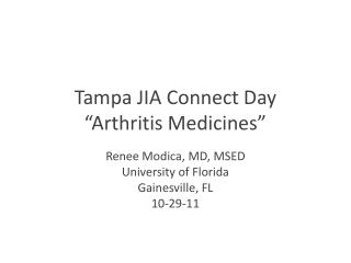 "Tampa JIA Connect Day ""Arthritis Medicines"""