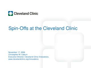 Spin-Offs at the Cleveland Clinic