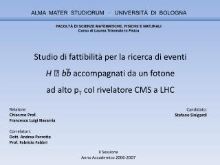 ALMA  MATER  STUDIORUM   ∙   UNIVERSITÀ  DI  BOLOGNA