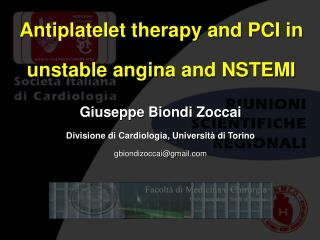 Antiplatelet therapy and PCI in unstable angina and NSTEMI