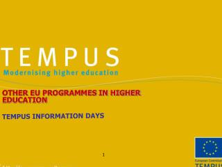 TEMPUS INFORMATION DAYS
