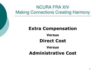 NCURA FRA XIV Making Connections Creating Harmony