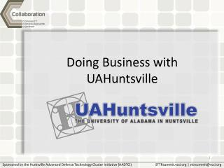 Doing Business with UAHuntsville