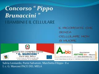 """Concorso """" Pippo  Brunaccini  """" I  BAMBINI E IL CELLULARE"""