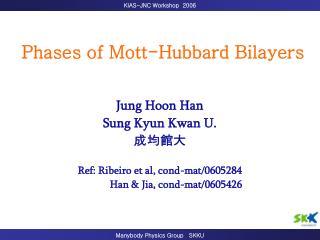 Phases of Mott-Hubbard Bilayers