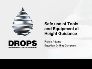 Safe use of Tools and Equipment at Height Guidance