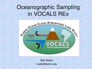 Oceanographic Sampling in VOCALS REx