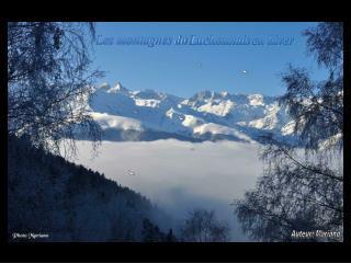 Les montagnes du  Luchonnais  en hiver