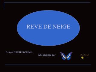 REVE DE NEIGE