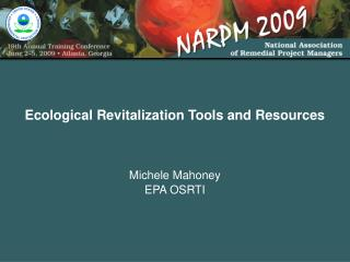 Ecological Revitalization Tools and Resources