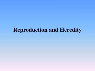 Reproduction and Heredity