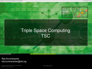 Triple Space Computing TSC
