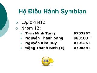 Hệ Điều Hành Symbian