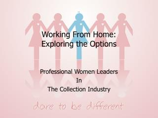 Working From Home:  Exploring the Options