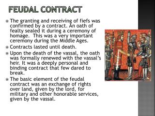 Feudal Contract