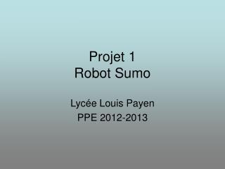 Projet 1 Robot Sumo