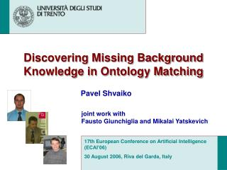 Discovering Missing Background Knowledge in Ontology Matching
