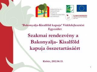 'Bakonyalja-Kisalföld kapuja' Vidékfejlesztési Egyesület