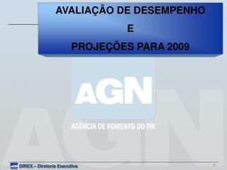 AVALIAÇÃO DE DESEMPENHO E PROJEÇÕES PARA 2009