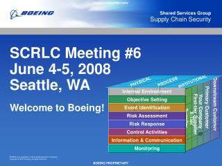 SCRLC Meeting #6 June 4-5, 2008 Seattle, WA