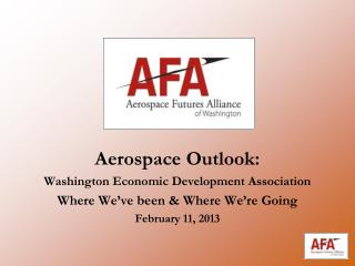 Aerospace Outlook:  Washington Economic Development Association
