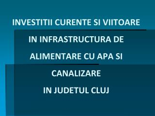TOTAL INVESTITII PANA IN DECEMBRIE 2009