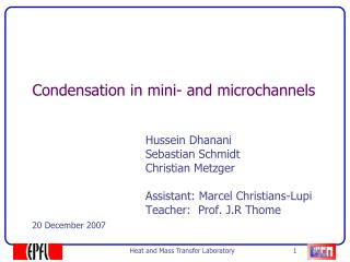 Condensation in mini- and microchannels