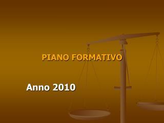 PIANO FORMATIVO