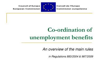 Co-ordination of unemployment benefits