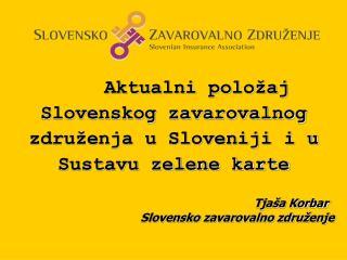 Aktualni položaj Slovenskog zavarovalnog združenja u Sloveniji i u Sustavu zelene karte