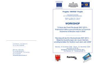 """Progetto """"SINTESI"""" Projekt PON AZIONI DI SISTEMA NOP SYSTEMWIRKSAME MASSNAHMEN"""