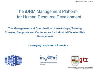 The  iDRM Management Platform  for Human Resource Development