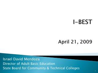 I-BEST April 21, 2009