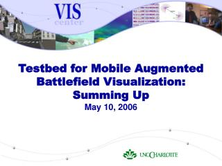 Testbed for Mobile Augmented Battlefield Visualization: Summing Up May 10, 2006