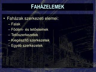 F AH�ZELEMEK