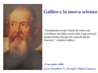 Galileo e la nuova scienza