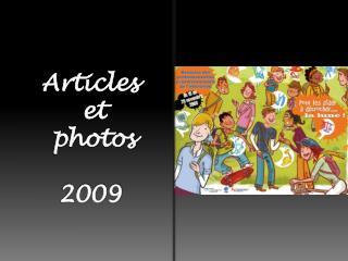 Articles  et  photos 2009