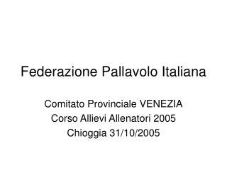 Federazione Pallavolo Italiana