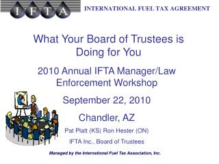 What Your Board of Trustees is Doing for You