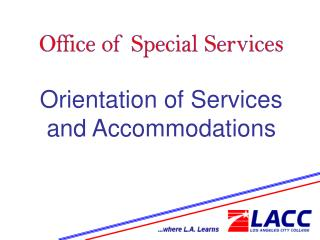 Office of Special Services
