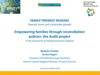 FAMILY FRIENDLY REGIONS Towards smart and sustainable growth