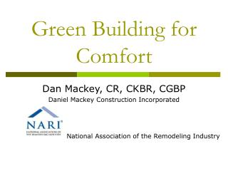 Green Building for Comfort